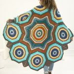 Free Crochet Pattern for a Star Mandala Afghan.