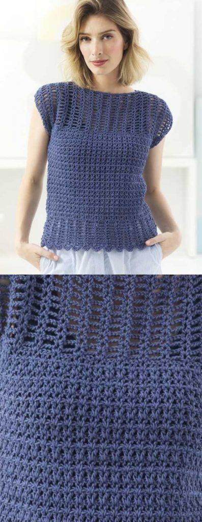Free Ladies Crochet Pattern for an Openwork Top ⋆ Crochet Kingdom