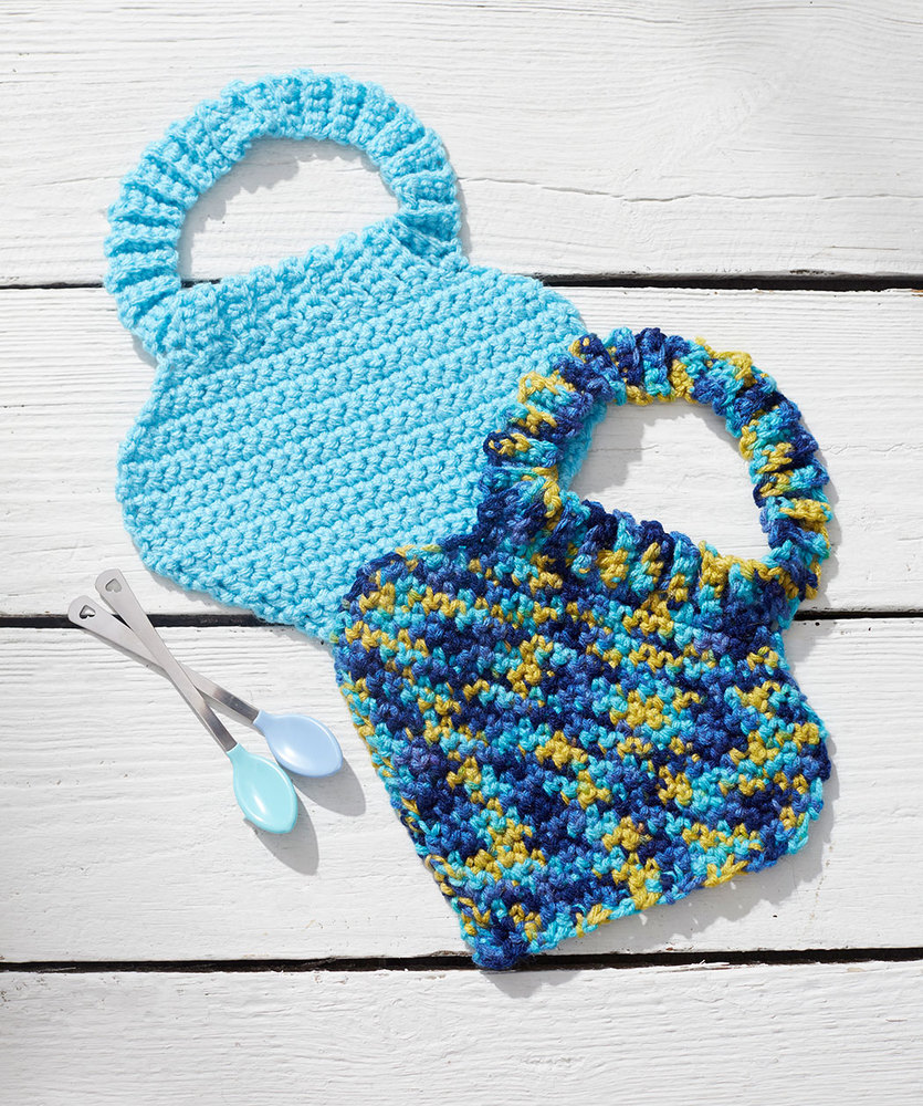 Free Pattern for Crochet Baby Bibs