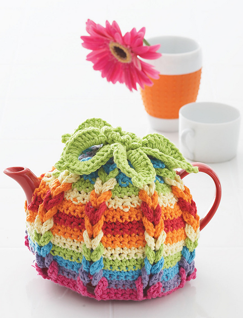 Hot Hibiscus Tea Cozy Free Crochet Pattern