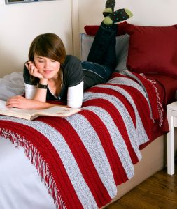 Quick And Easy Crochet Blanket Patterns For Beginners. Striped afghan to crochet now with free pattern download.