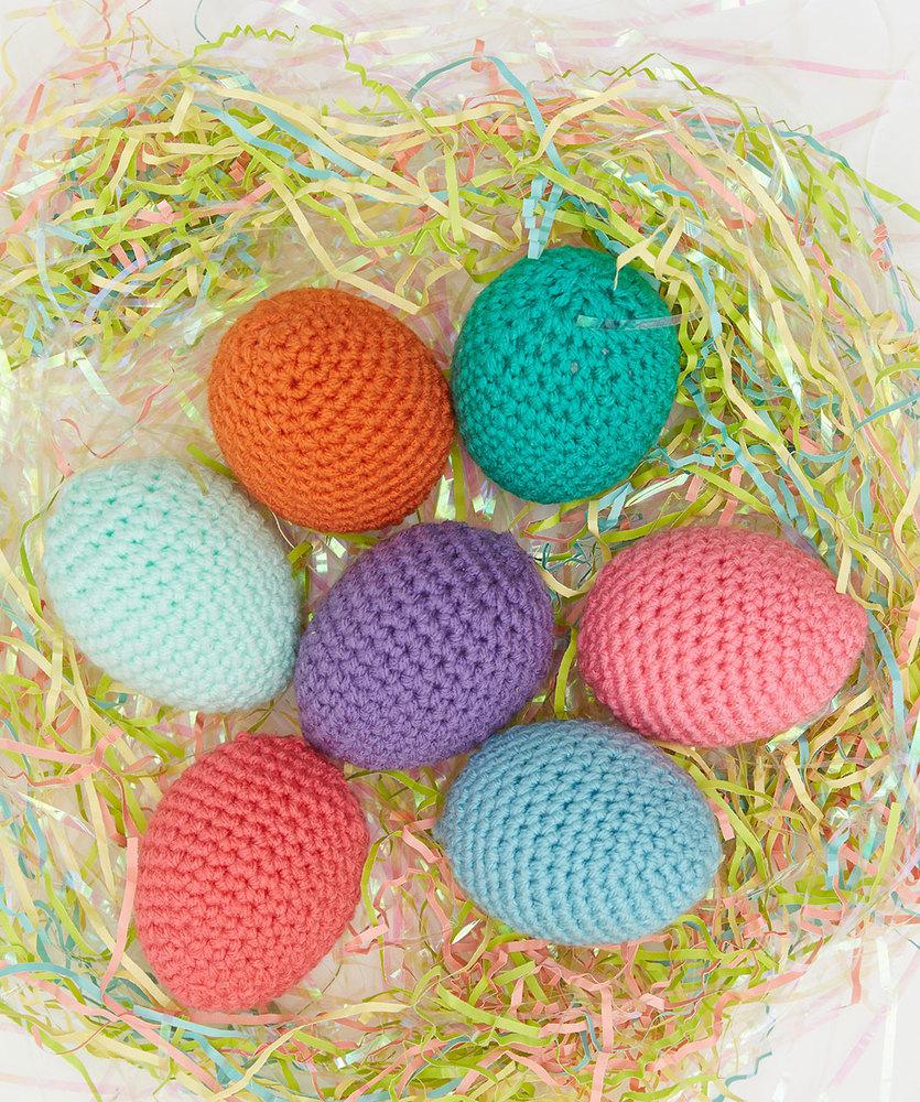 Springtime Easter Eggs Free Crochet Pattern