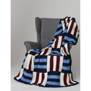 Striped Parquet Afghan Quick And Easy Crochet Blanket Patterns For Beginners