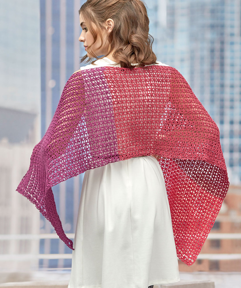 Free Crochet Pattern for a Delicate Romance Shawl.