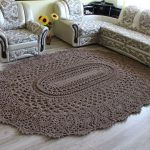 Free Crochet Pattern for a Large Oval Rug