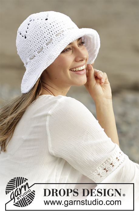 Free Crochet Pattern for a Sunny Smiles Sun Hat.