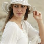 Free Crochet Pattern for a Top Down Sunhat.