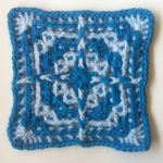 Free Crochet Solid Square Pattern Worked Around the Posts of Stitches