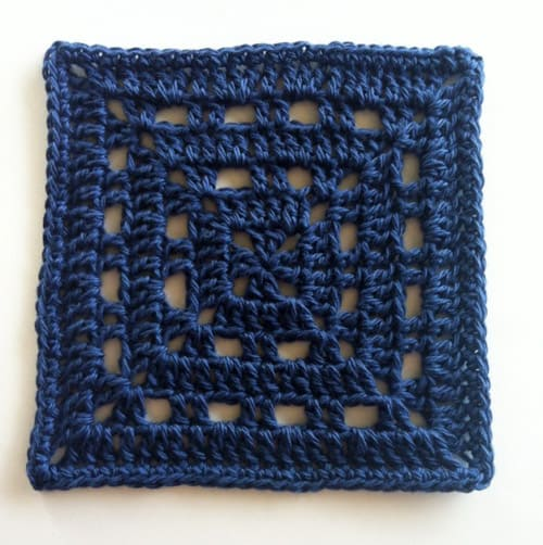 Free Crochet Square Pattern Skipping Square
