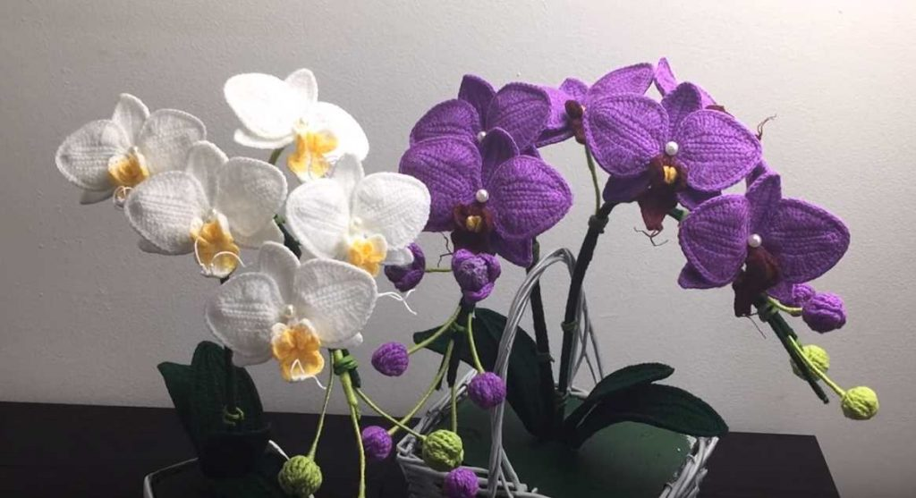 Free Video Tutorial for a Crochet Flower Moth Orchid