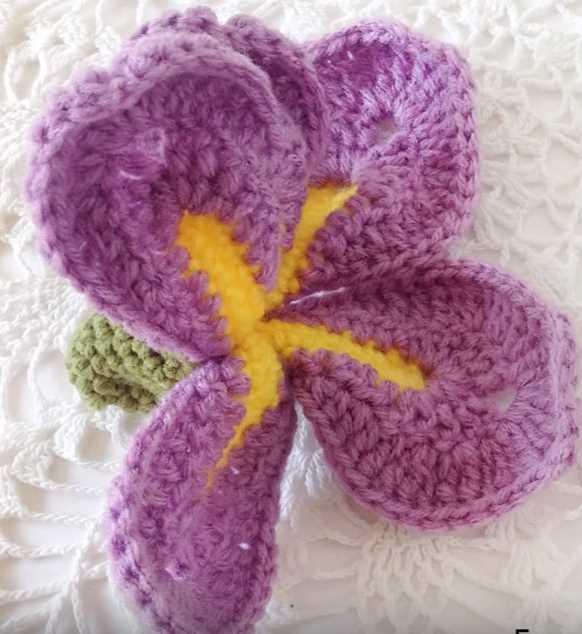 free video tutorial for a dutch iris orchid crochet flower  iris flower crochet diagram wiring