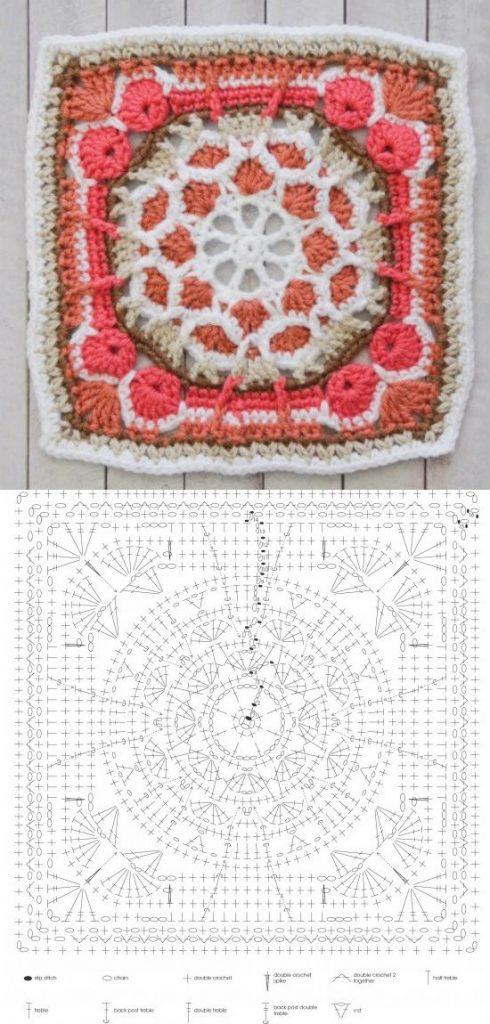 The Ultimate Granny Square Diagrams Collection ⋆ Crochet