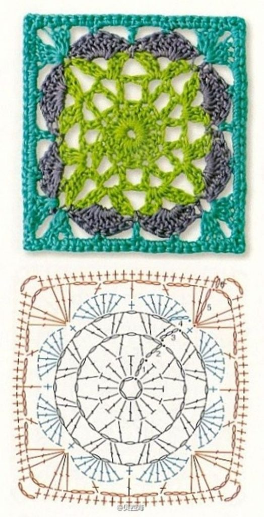 The Ultimate Granny Square Diagrams Collection ⋆ Crochet