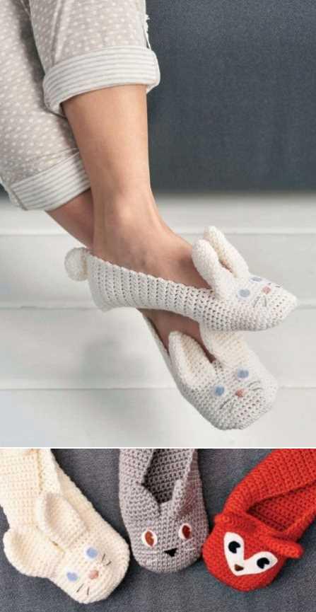 Crochet Animal Slippers Free Pattern