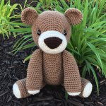 Free Amigurumi Crochet Pattern for Benedict the Bear