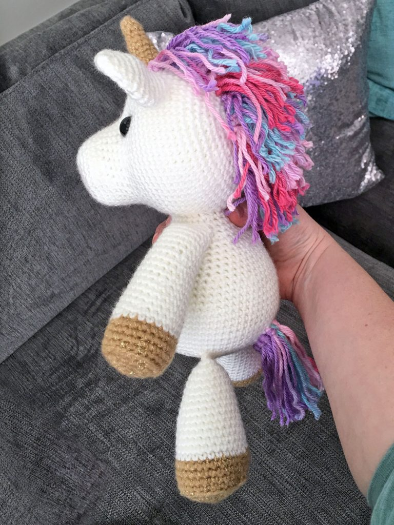 Free Amigurumi Crochet Pattern for Jazzy the Unicorn