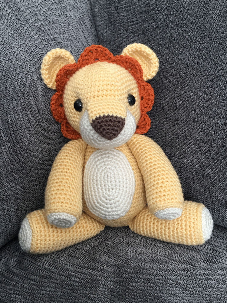 The Lion King Inspired Adult Simba Soft Toy - Large Crochet Lion ... | 1000x750