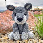 Free Amigurumi Crochet Pattern for Walter the Wolf