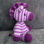 Free Amigurumi Crochet Pattern for Zane the Zebra