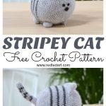 Free Cat Crochet Pattern Stripey