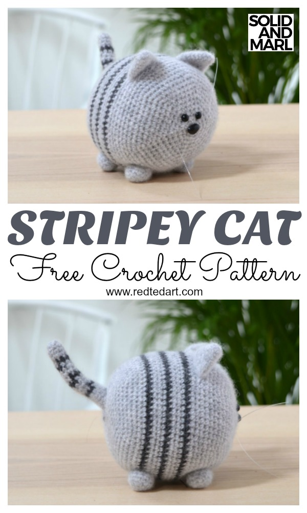 Free Cat Crochet Pattern Stripey Crochet Kingdom