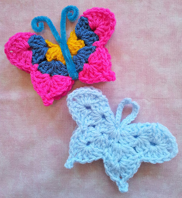 Free Crochet Patter for a Fridgie Butterfly