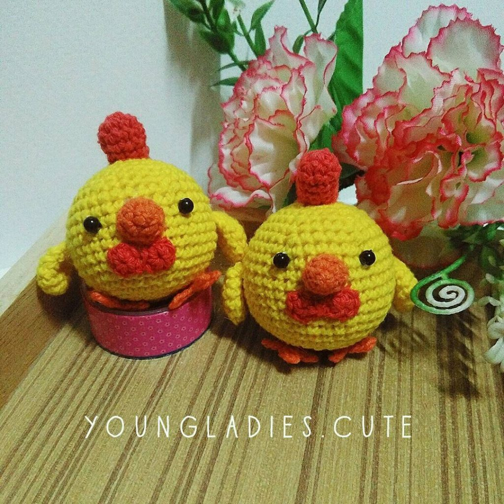 Free Crochet Pattern for Amigurumi Chickies