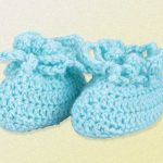 Free Crochet Pattern for Crocheted Baby Booties