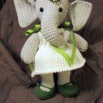 Free Crochet Pattern for Elephant Girl Amigurumi Doll