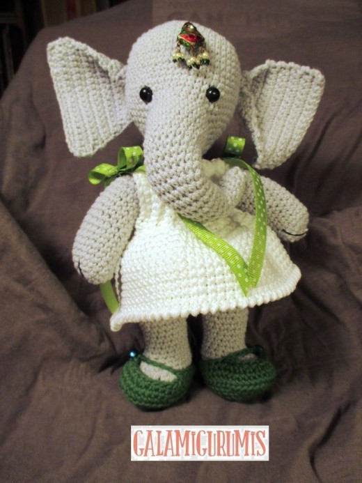 Free Crochet Pattern for Elephant Girl Amigurumi Doll