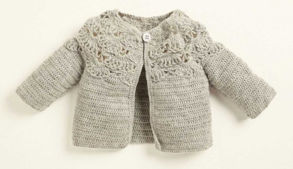 Free Crochet Pattern for a Baby and Kids Cardigan