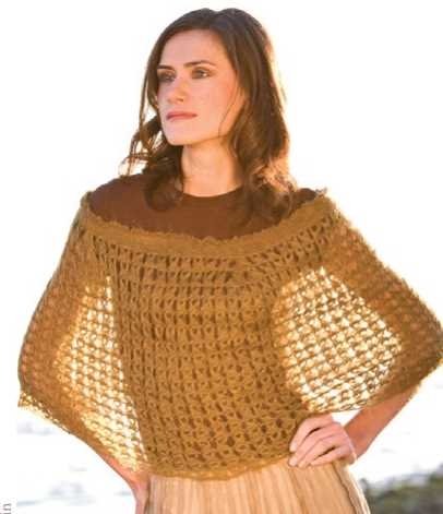Free Crochet Pattern for a Broomstick Lace Capelet