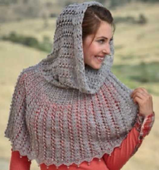 Free Crochet Pattern for a Capelet with a Hood