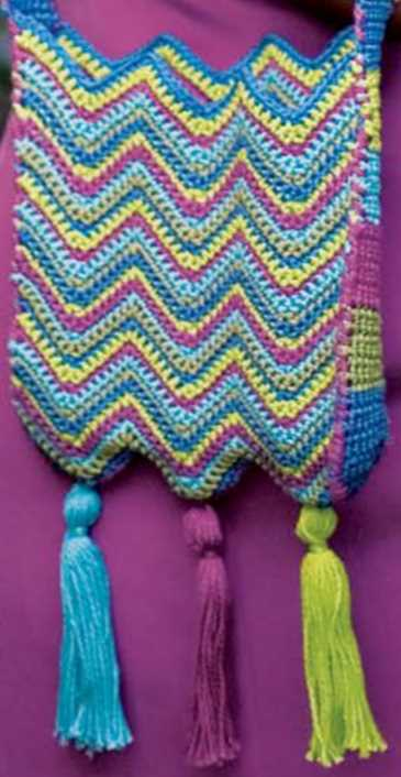Free Crochet Pattern for a Chevron Shoulder Bag