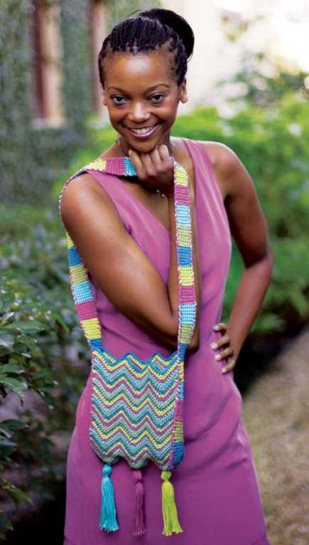 Free Crochet Pattern for a Chevron Shoulder Bag
