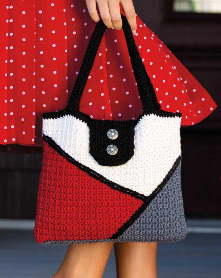 Free Crochet Pattern for a Color Black Bag