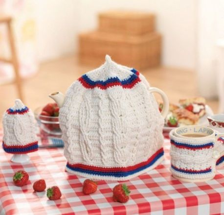 Free Crochet Pattern for a Crochet Cricket Cosy Set