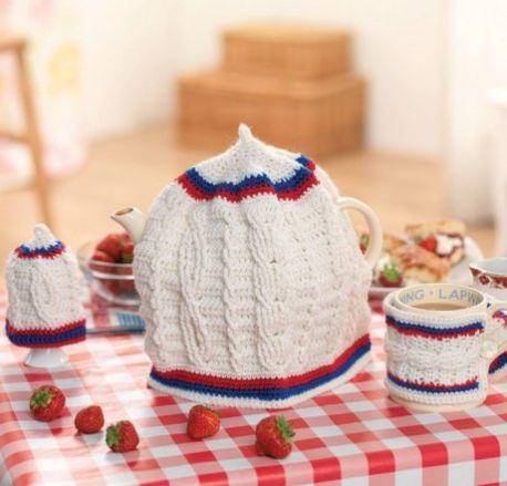 Free Crochet Pattern for a Crochet Cricket Cosy Set
