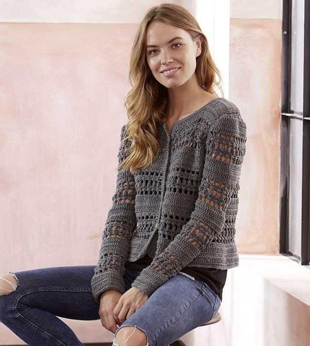 Free Crochet Pattern for a Crocheted Jacket