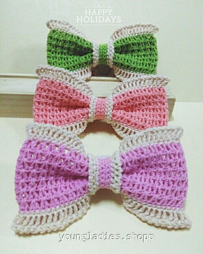 Free Crochet Pattern For A Cutie Bow Hairclip Crochet Kingdom
