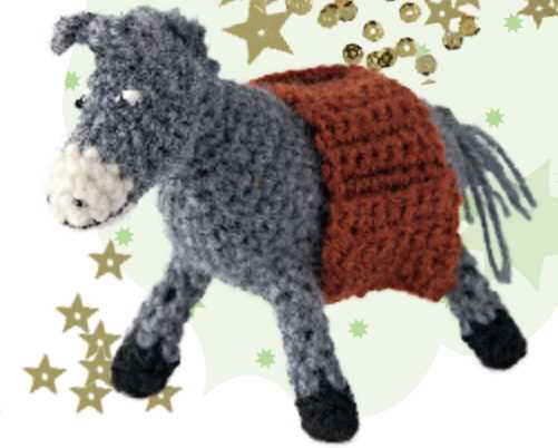 Free Crochet Pattern for a Donkey
