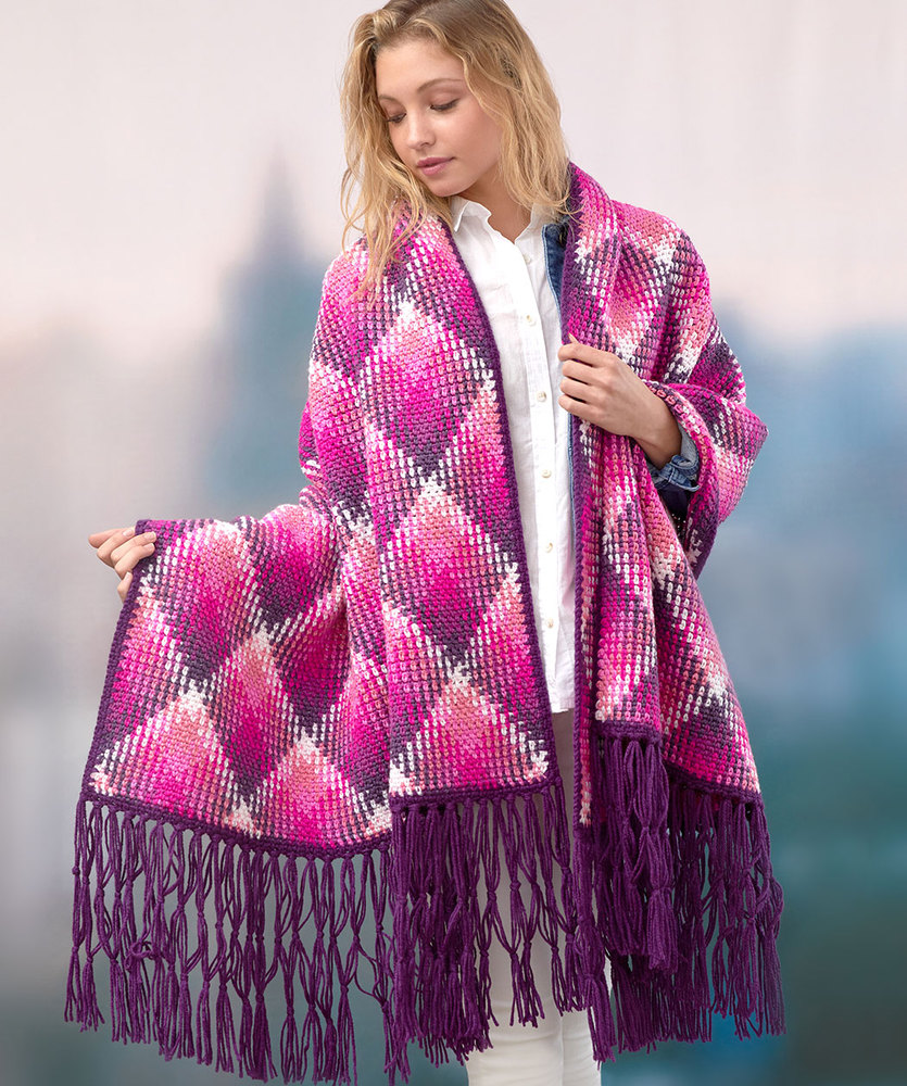 Free Crochet Pattern for a Fabulous Planned Pooling Wrap