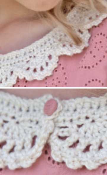 Free Crochet Pattern for a Lace Collar