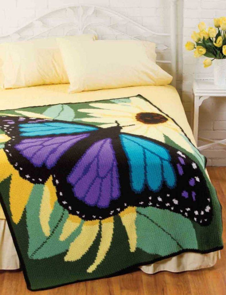 Free Crochet Pattern for a Majestic Butterfly Afghan