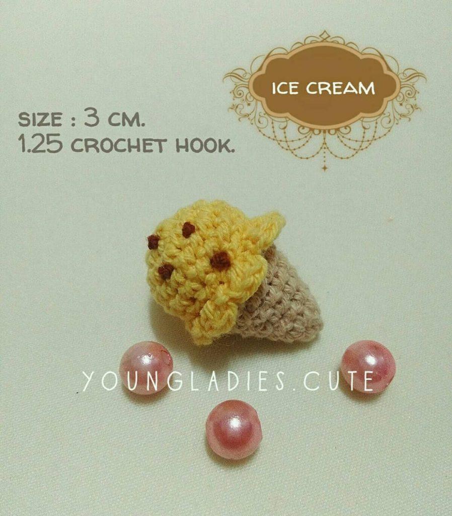Free Crochet Pattern for a Mini Ice Cream Amigurumi