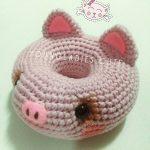 Free Crochet Pattern for a Piggy Donut Amigurumi