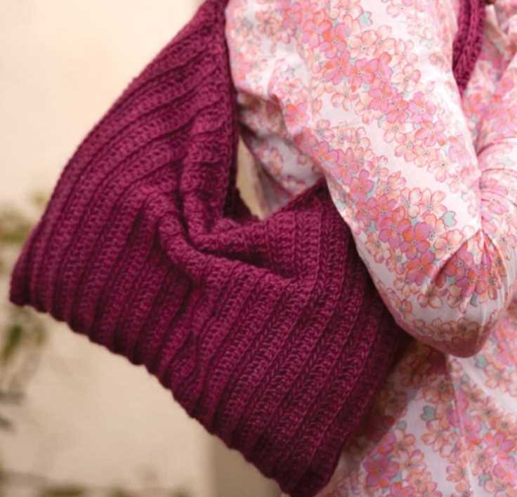 Free Crochet Pattern for a Slouchy Purse