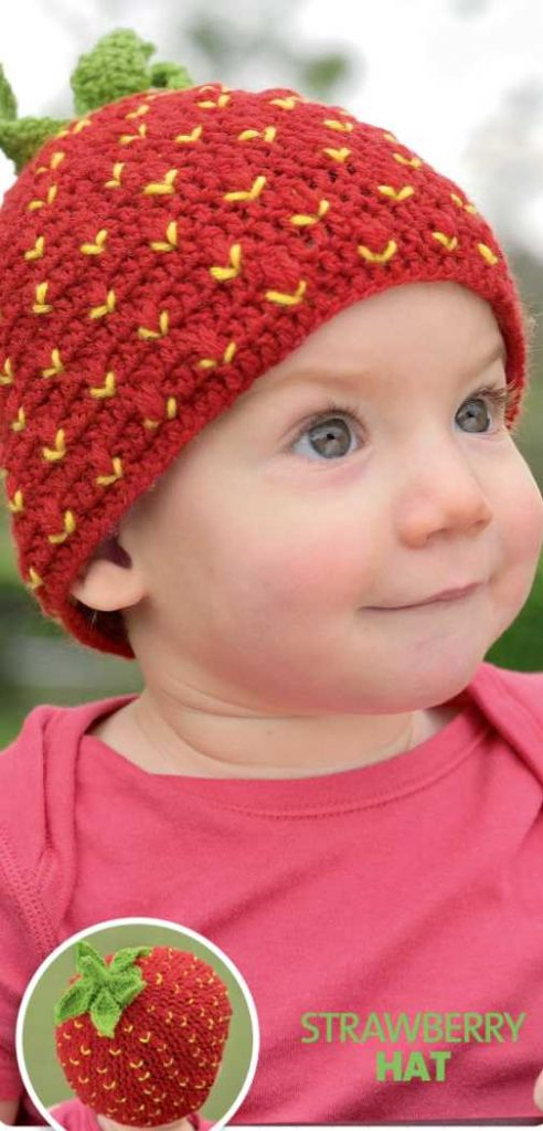 Free Crochet Pattern for a Strawberry Hat
