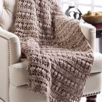 Free Crochet Pattern for a Tree Bark Throw