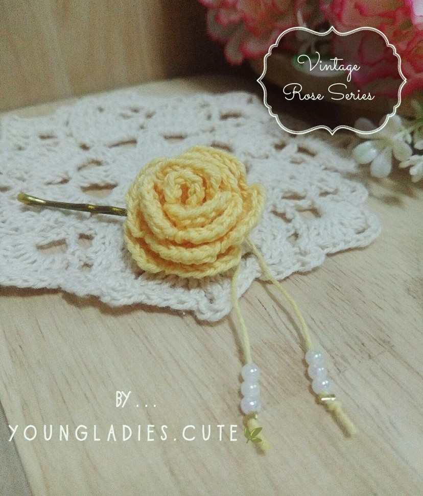 Free Crochet Pattern for a Vintage Rose